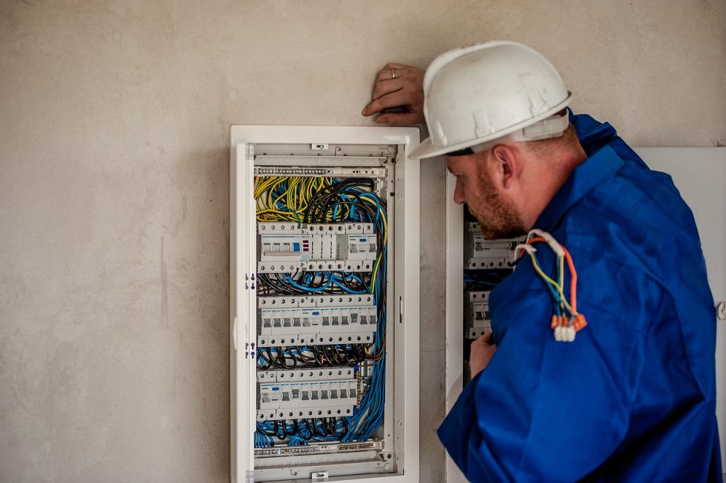 Electrician Performing Upgrades