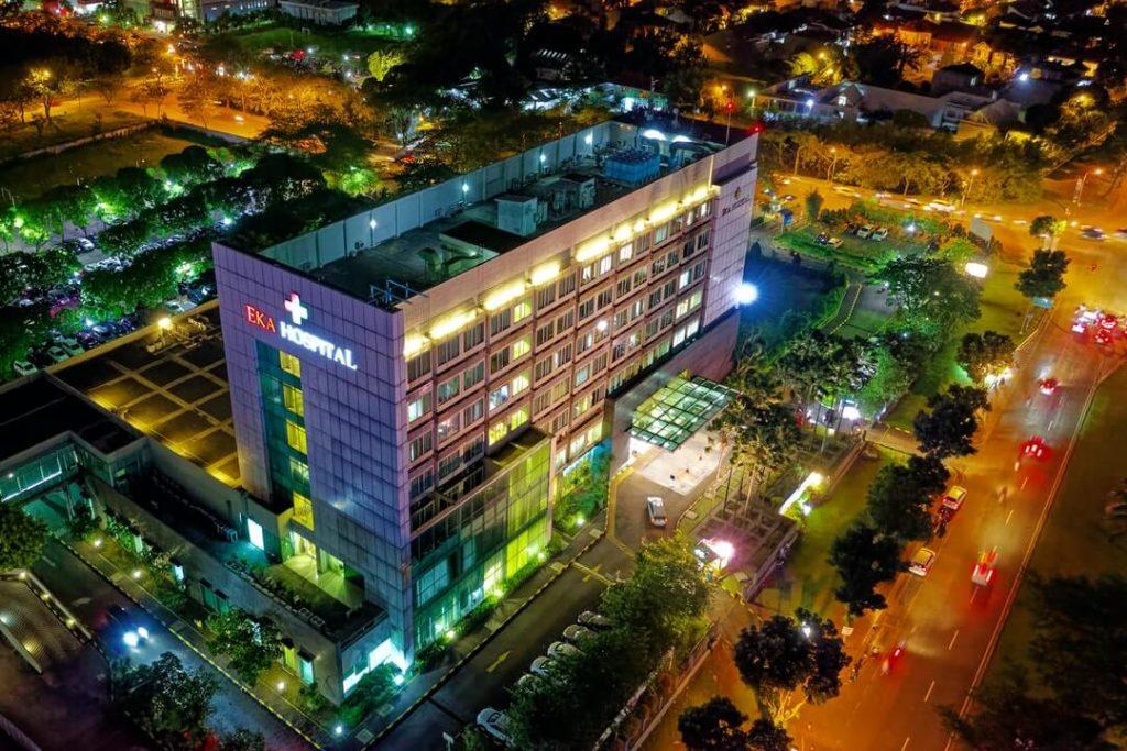 Hospital Lights at Night
