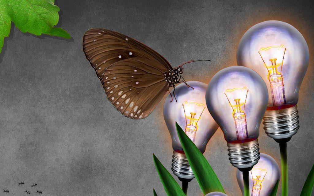 smart light bulbs green illustration
